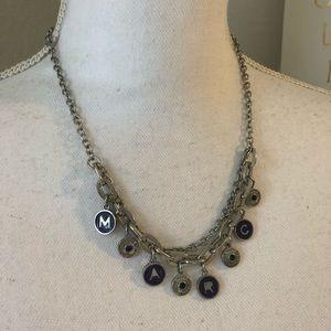 Marc Jacobs Purple Coin Necklace